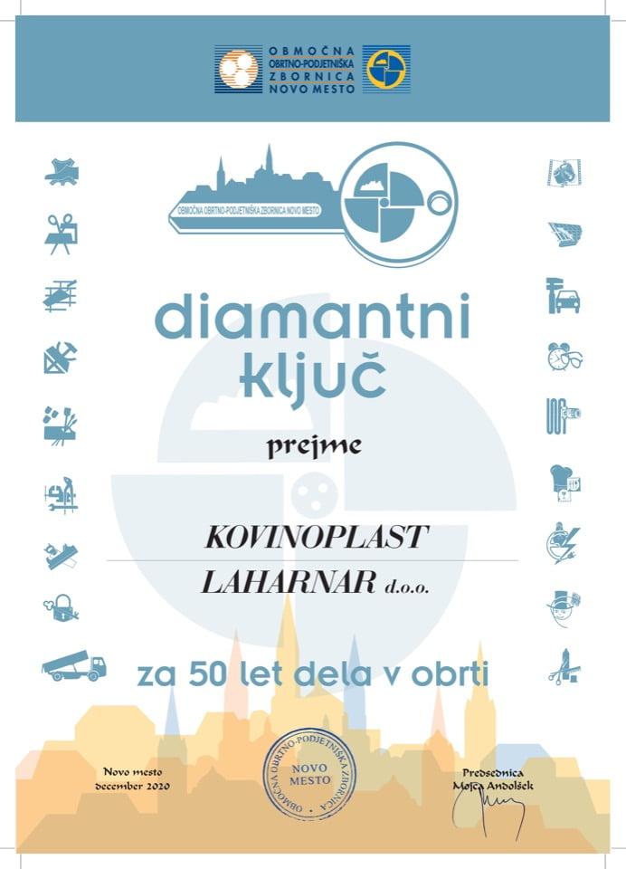 Diamantni kljuc-Kovinoplast-Laharner