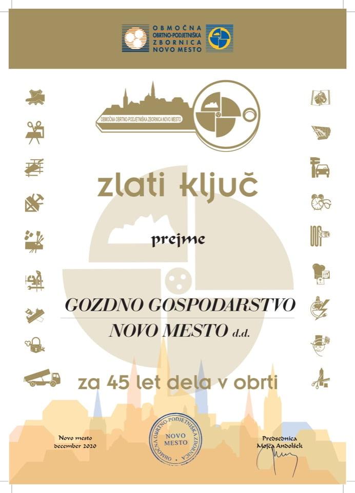 Zlati ključ_45 let-Gozdno-gospodarstvo